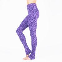Soma Leggings purple side - kismet yogastyle