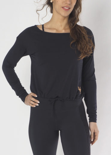 yoga longsleeve top aditi anthracite front view