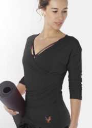 Yoga Top Indra anthracite-Kismet Yogastyle-kismet leisure wear- front