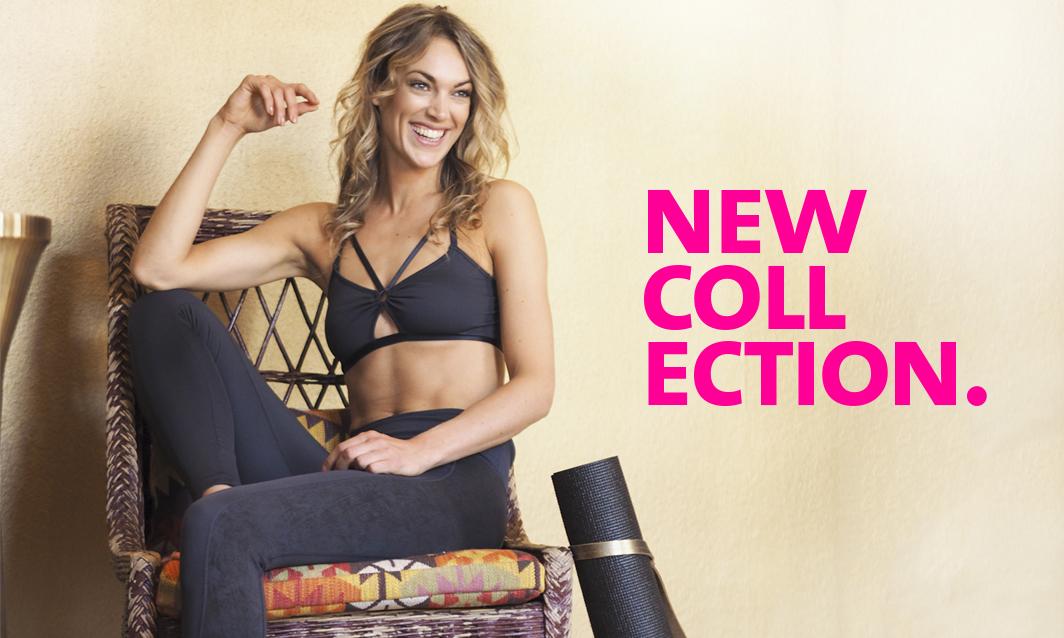 Kimset Yogastyle new collection-yoga bra Top Maja anthracite-Yoga leggings Lakshmi anthracite-yogini relaxed smiling