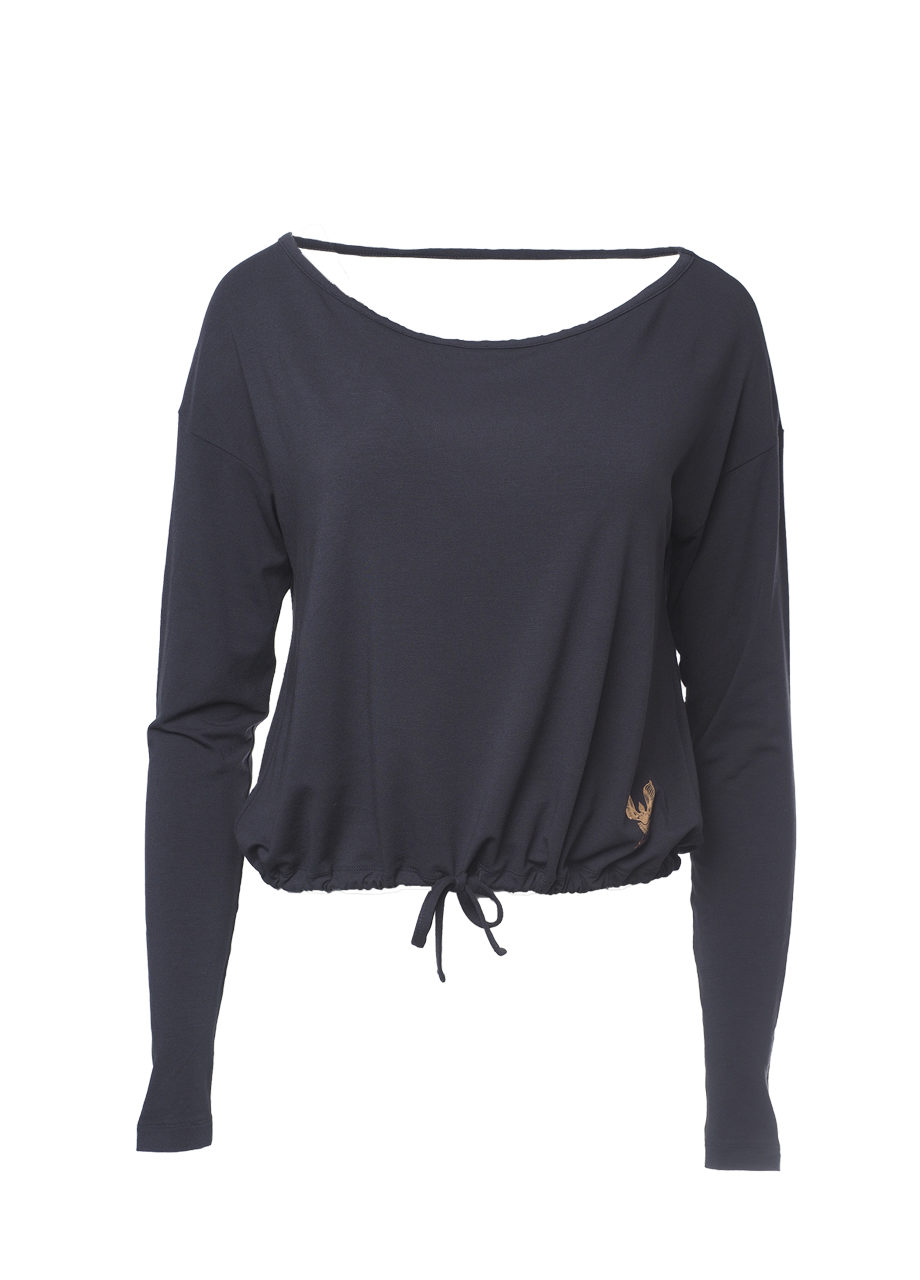 Yoga longsleeve Top Aditi anthracite front