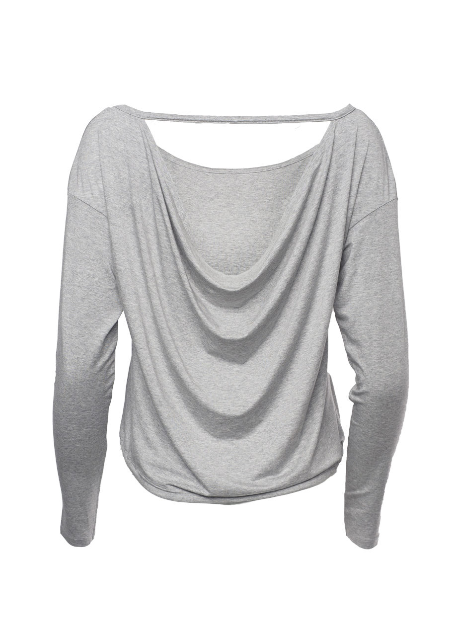 Yoga Top Aditi grey marl back view