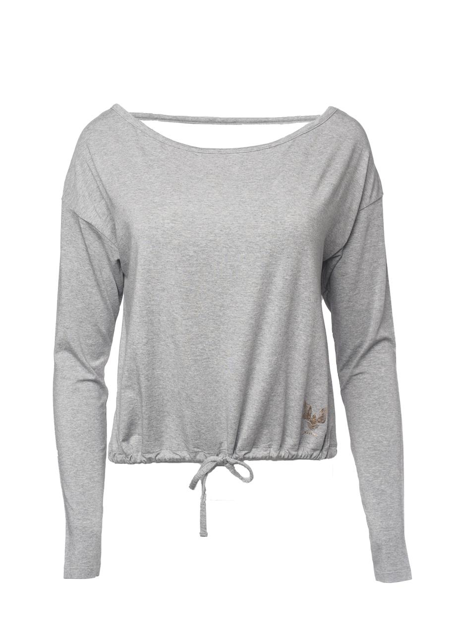 Yoga Top Aditi grey marl front view