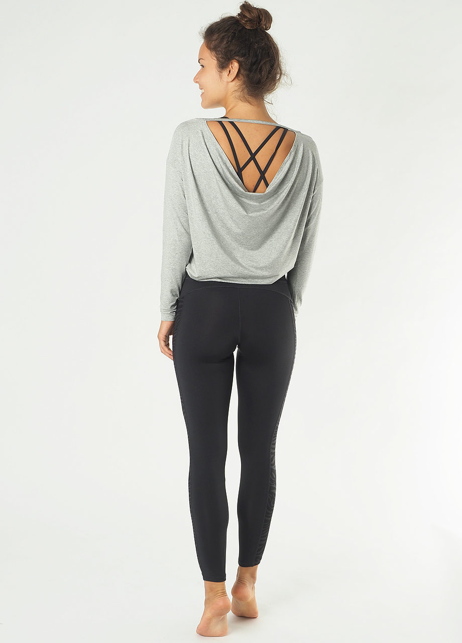 Kismet Yoga LS Aditi grey marl back