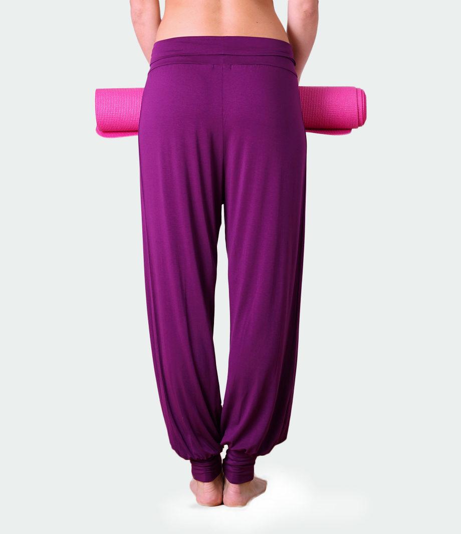 yoga pant padmini burgundy-back view-yoga pant-kismet yogastyle