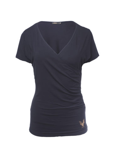 Yoga Tee Durga anthracite front view