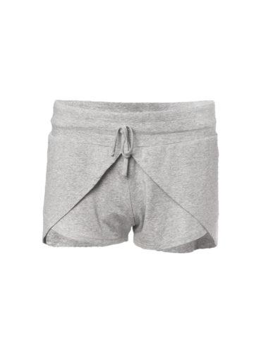 Yoga short jaya grey marl-kismet yogastyle front view
