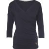Yoga Tee Indra anthracite front view-Kismet Yogastyle
