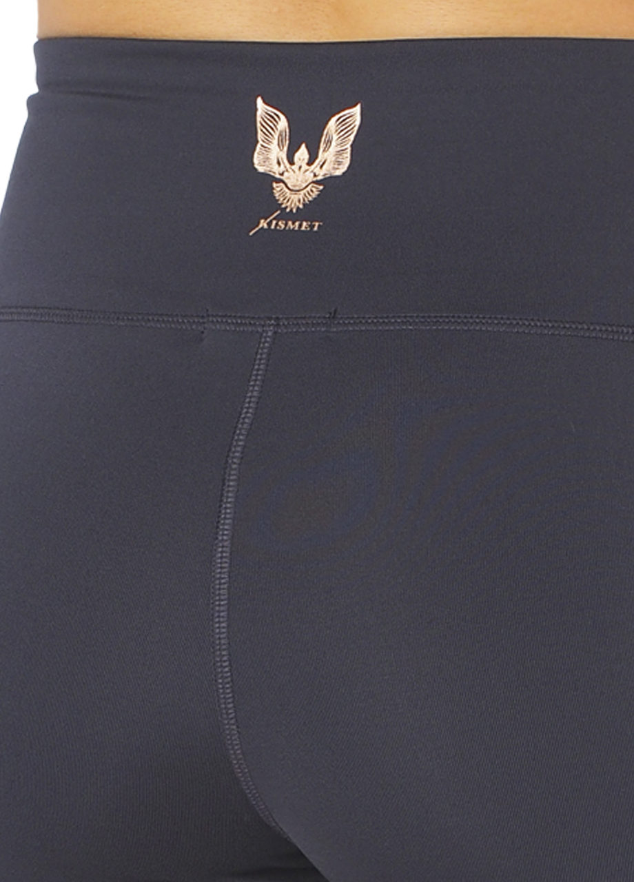Yoga Shape Short Ananta - Anthracite-logo detail