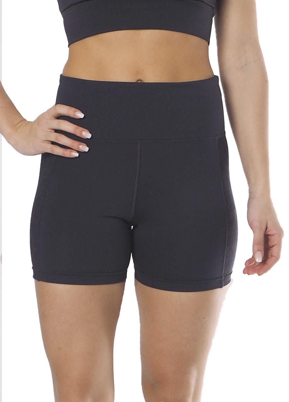 Yoga Shape Short Ananta - Anthracite-front view