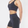 Yoga Shape Short Ananta - Anthracite-side view-Radha Bra top-Kismet Yogastyle