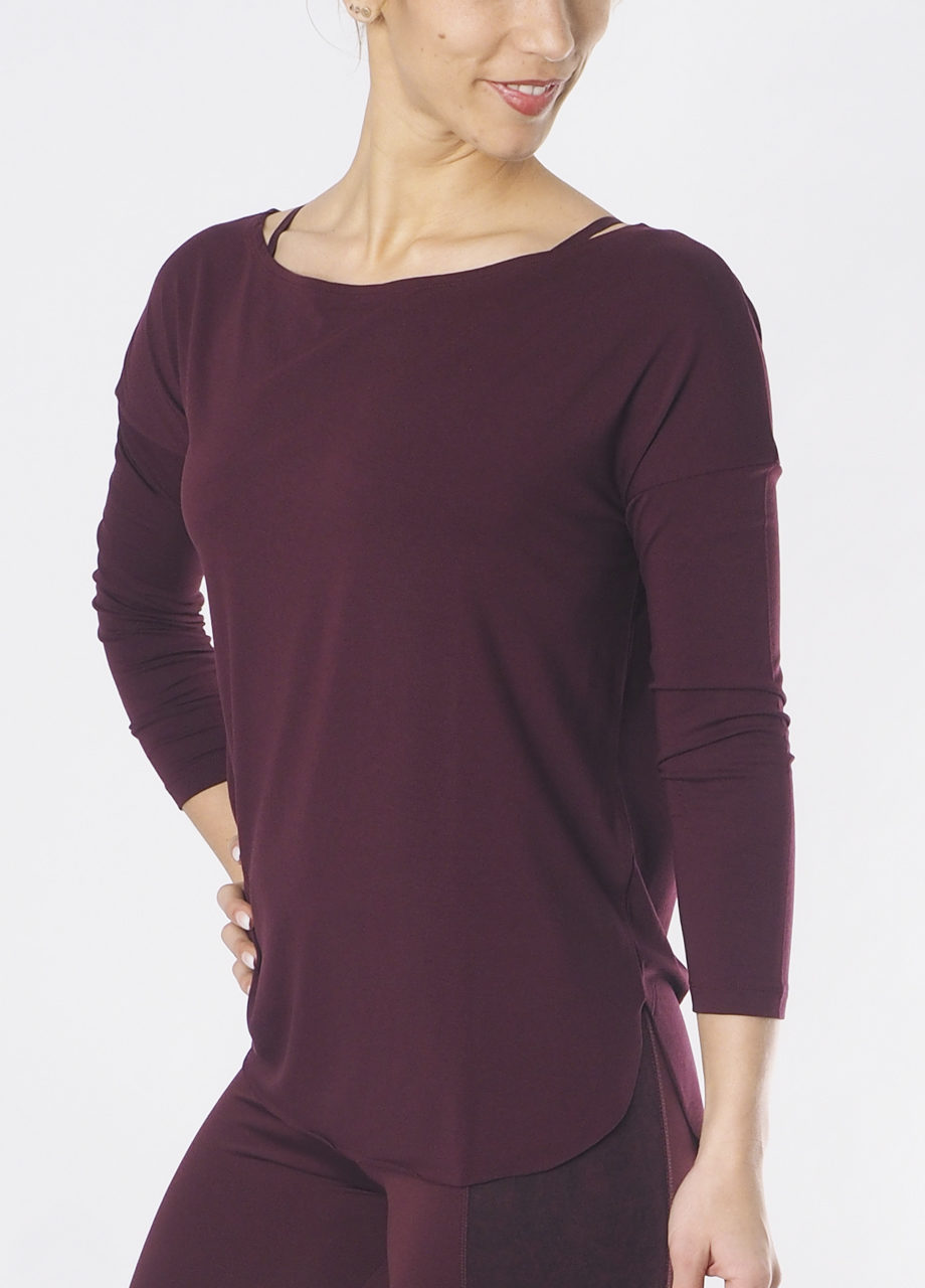 Kismet Aila long sleeve Top mystic front on model