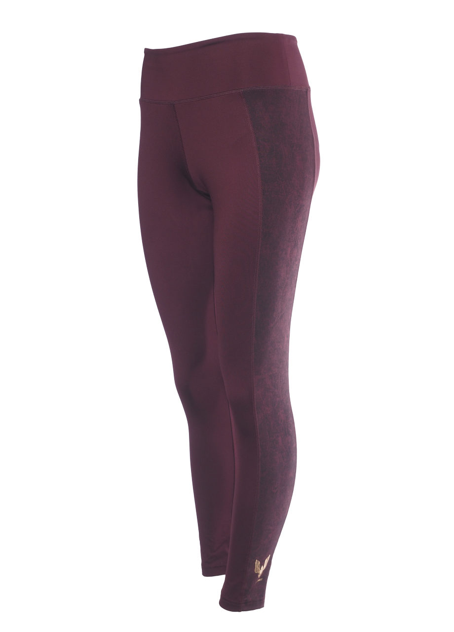 Kismet Yoga Shape Leggings Lakshmi mystic red front view