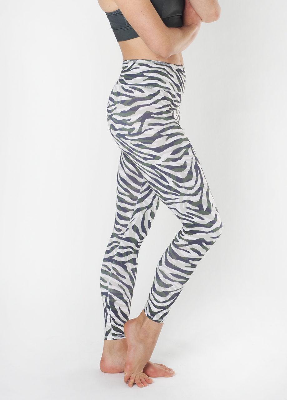 e4b225188f Yoga Leggings Ganga-Zebra Camo-kismet yogastyle-yoga mode