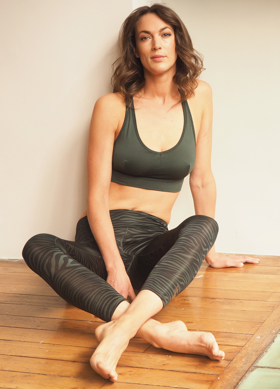 Kismet Yoga Bra Top Radha deep jade_mood