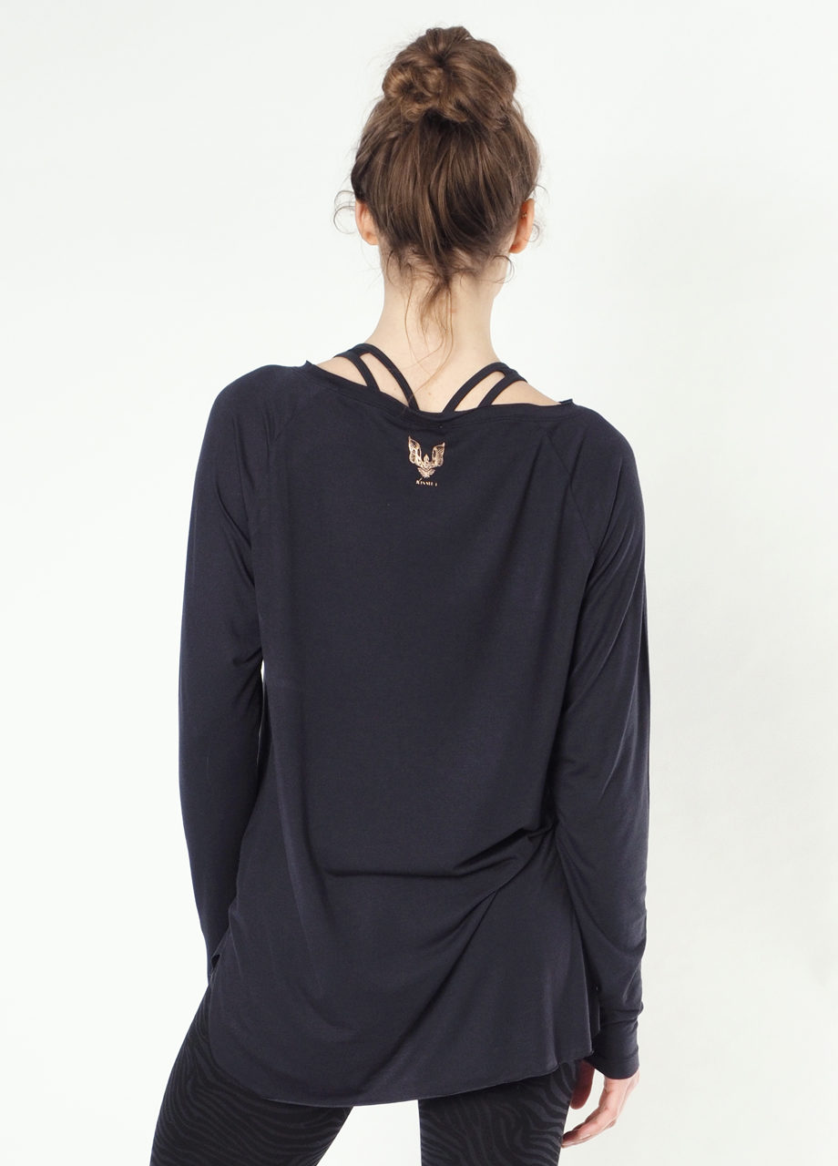 YogaLongsleeve Top Amun-Anthracite back