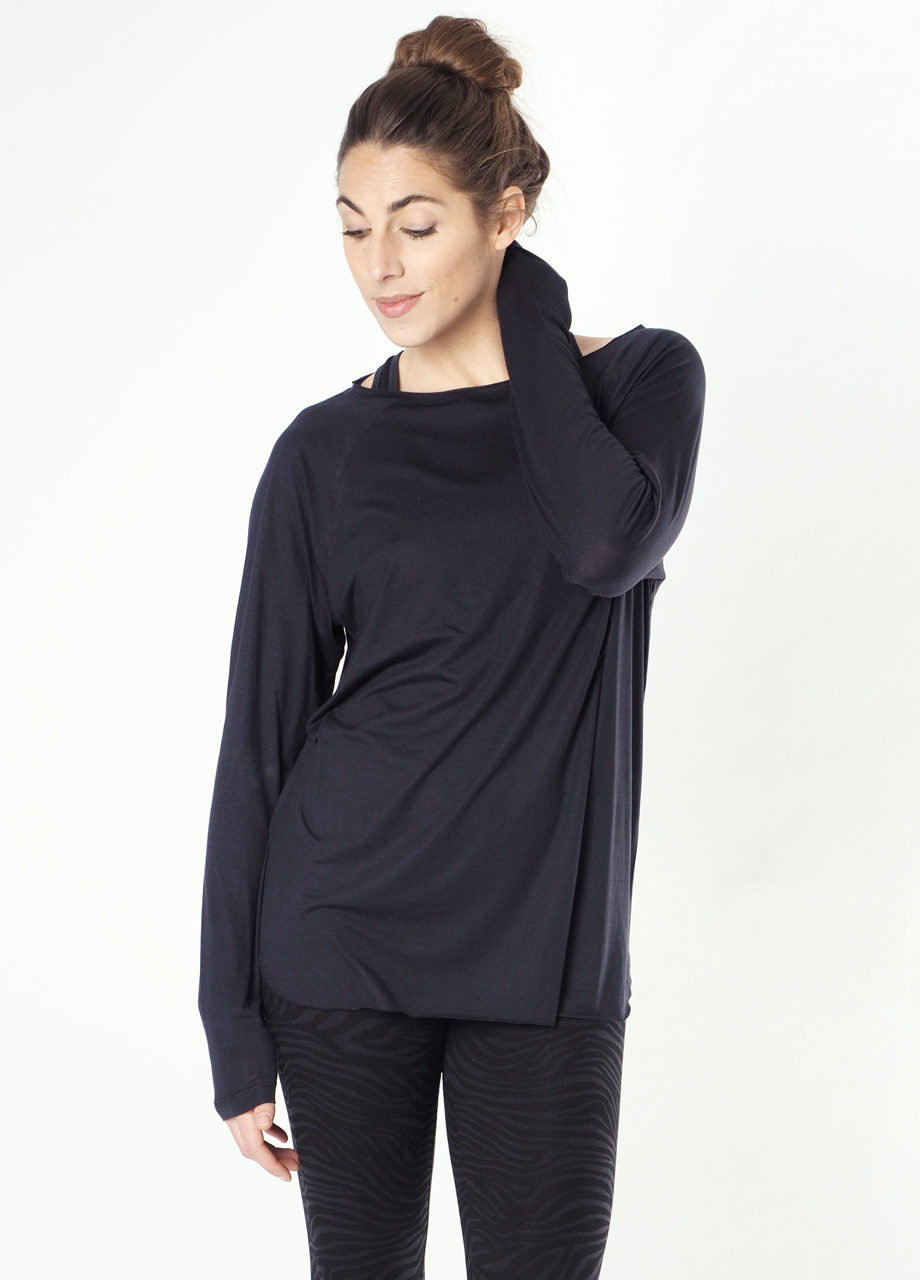 YogaLongsleeve Top Amun-Anthracite front