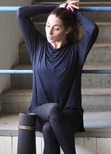 Yoga Longsleeve Top Amun-Anthracite