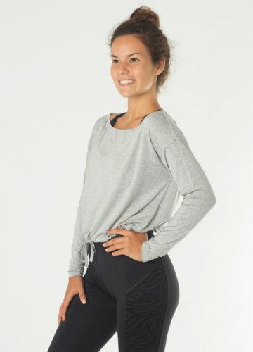 Kismet Yoga LS Aditi grey marl front