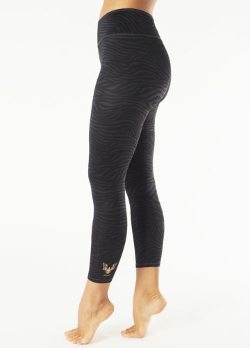 Kismet Yoga Leggings Ganga zebra anthracite_side