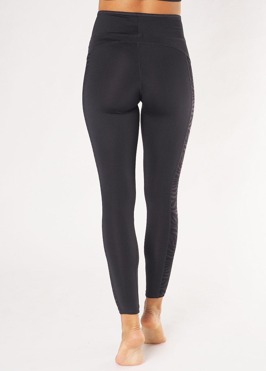 Kismet Yoga Shape Leggings Anisha anthracite zebra back