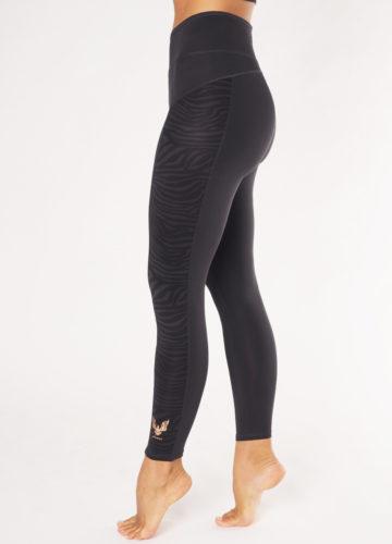 Kismet Yoga Shape Leggings Anisha anthracite zebra side