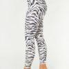 Kismet Ganga Leggings Zebra black white side view
