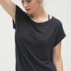 Yoga Tee Jiva - Anthracite front close