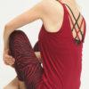 Yoga Tank Sumati - Grape back mood