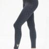 Yoga Leggings Ganga 7/8 - Anthracite Leo-Kismet Yogastyle-front