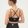 Yoga Bra Top Rami - Anthracite-back-Kismet Yogastyle