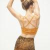 Yoga Bra Top Rami - Desert Gold-Kismet Yogastyle_back