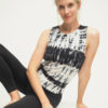 Shakti Tank - Batik Anthracite-Kismet Yogastyle-front look sitting
