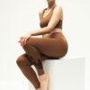Yoga Leggings Ganga 7/8 - Warrior Brown-Kismet Yogastyle