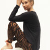 Yoga Leggings Ganga 7/8 - Zebra Brown-Kismet Yogastyle